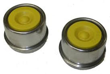 2.44 Stainless Steel Spindle Lube Dust Caps (Sold Per Pair Only)