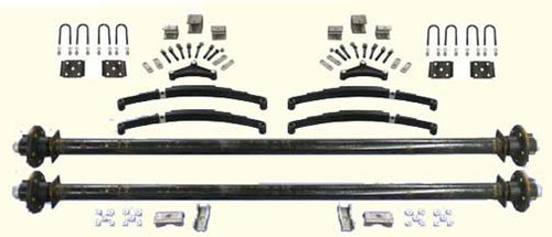 "73"" Tandem Utility Trailer Undercarriage Kit"