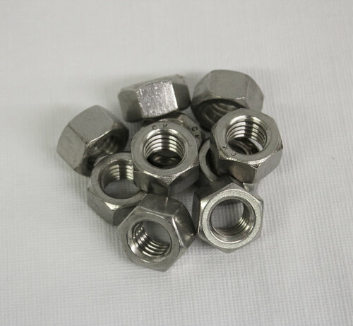 Stainless Steel Finish Nuts - Bag of 10