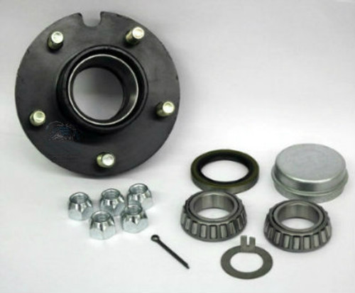 "1-1/4""x 1-1/4"" Trailer Hub - 5 Lug Painted Assembly"