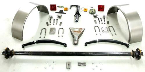 """89"""" 6,000# Single Axle Trailer Parts Kit"""