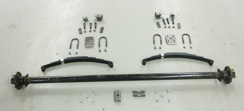 "73"" 6000# Single  Axle Undercarriage  Kit"