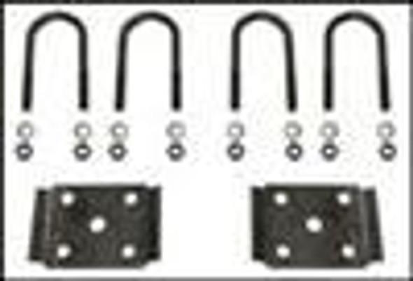 "3"" Round Ubolt Tieplate Kit Black Iron"