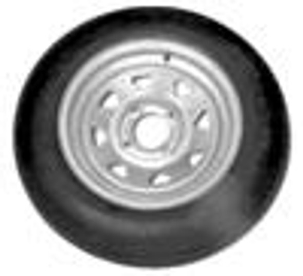 480x12  LRB Tire on 4 lug Galvanized Trailer Rim