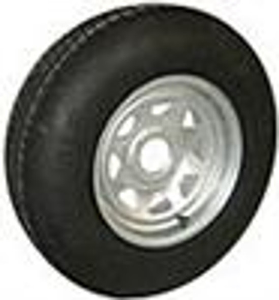 ST20575D14 LRC Tire On 5 on 4.5 Galvanized Trailer Rim