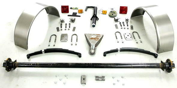 95'' 3500# Single Axle Trailer Parts Kit