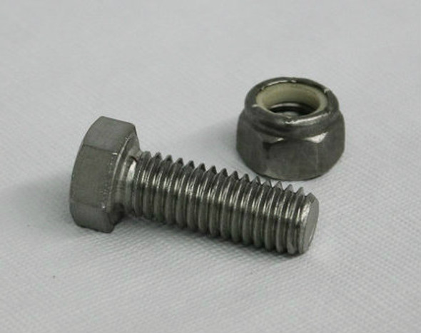 "3/8"" Stainless Steel Bolt with Locknut"