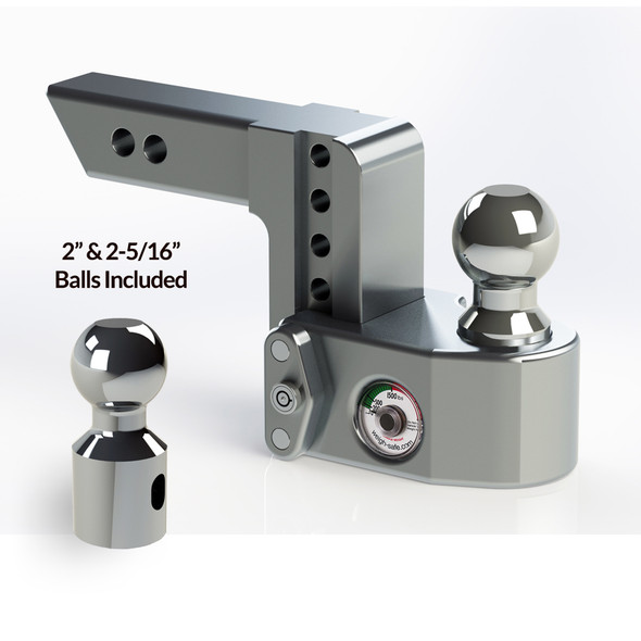 """Weigh Safe 2"""" Adjustable Hitch with Max Drop at 4"""""""