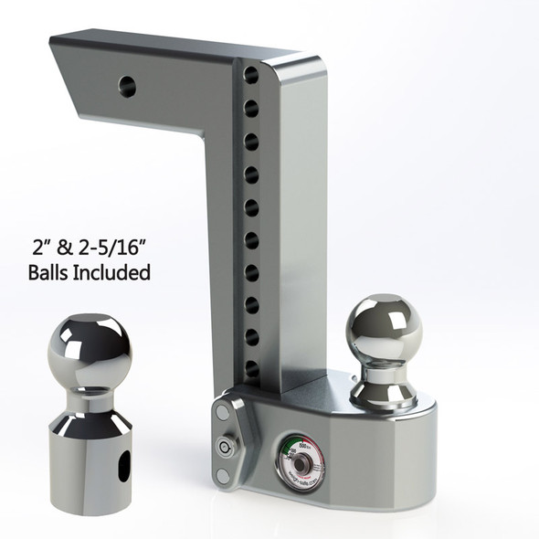 """Weigh Safe 2.5"""" Adjustable Hitch with Max Drop at 6"""""""