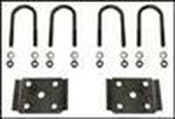 "2 3/8"" Round Ubolt Tieplate Kit Black Iron"