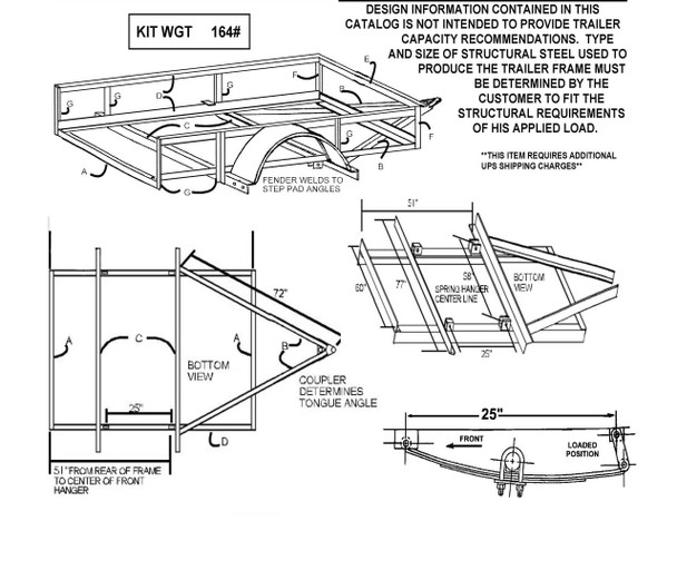 Single Axle Trailer Building Diagram