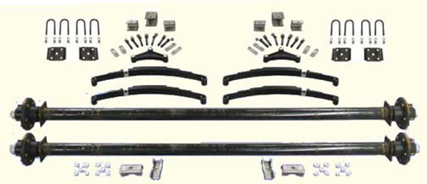 """73"""" Tandem Utility Trailer Undercarriage Kit"""