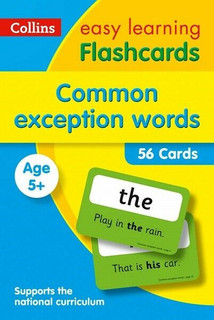 Common Exception Words Flashcards KS1 by Collins Easy Learning