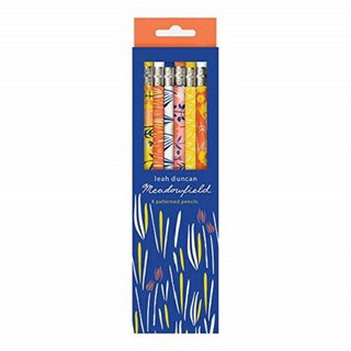 Meadowfield 8 Patterned Pencil Set by Leah Duncan (New & Boxed)