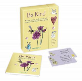 Be Kind - 52 Card Pack and Illustrated Book by Anna Black (New & Sealed)