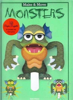 Make & Move Monsters - 12 Paper Puppets to Press Out & Play by Sato Hisao (NEW)