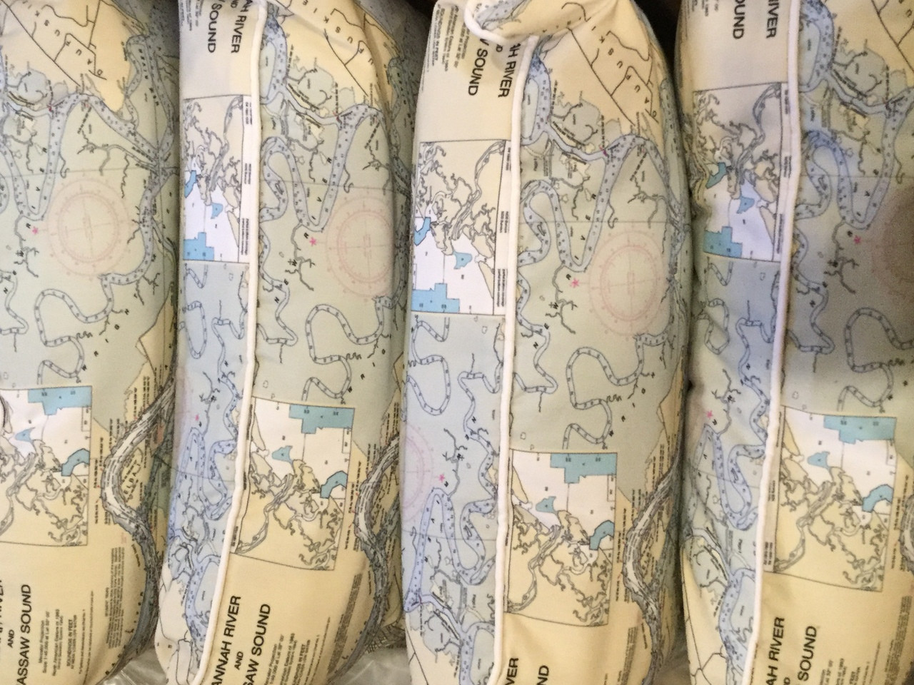 Nautical Chart Pillows - Custom Nautical Gifts