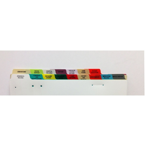 S/O 16 Tab Dialysis Poly Divider Set - Antimicrobial