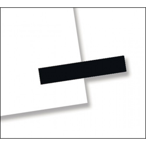"3/16"" x 1"", 300 Flags Redi -Tag Small Solid Black"