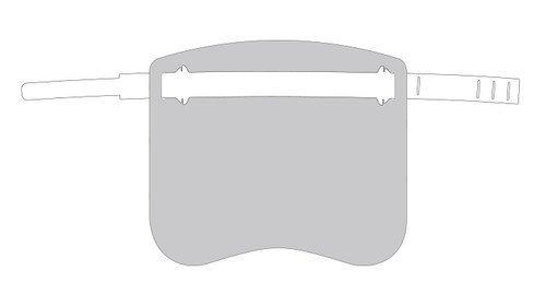 "2 pack - Kids Face Shield with 3 decal sheets - sized to fit a child  7"" x 12"""