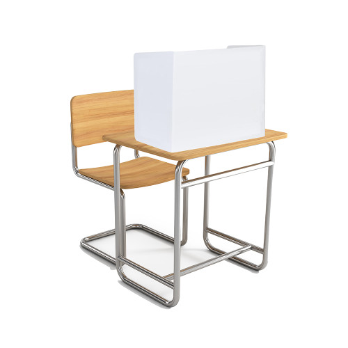 "Coroplast 4mm thick Desk Partition 18.5""h - 3 sided w/ 22""w center and 12.75""w sides (20/pk)"