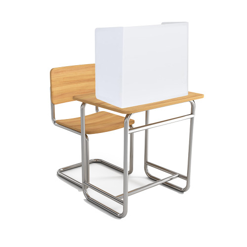 "Coroplast 4mm thick Desk Partition 23.5""h - 3 sided w/ 22""w center and 12.75""w sides (20/pk)"