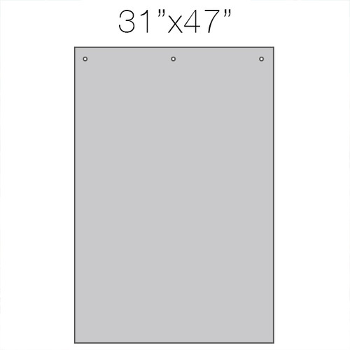 """HSG3248  Hanging Counter Sneeze Guard Partition  31"""" x 47"""""""