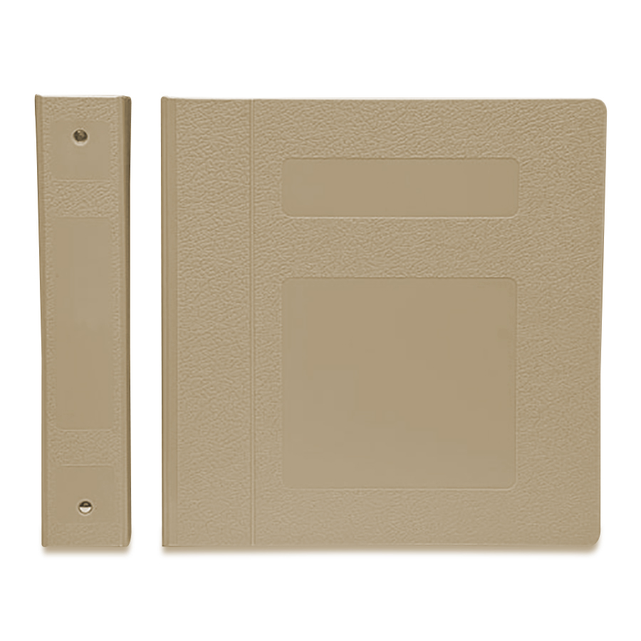 Side Open Titan Ringbinder Beige is a poly molded binder is perfect for traditional medical charting