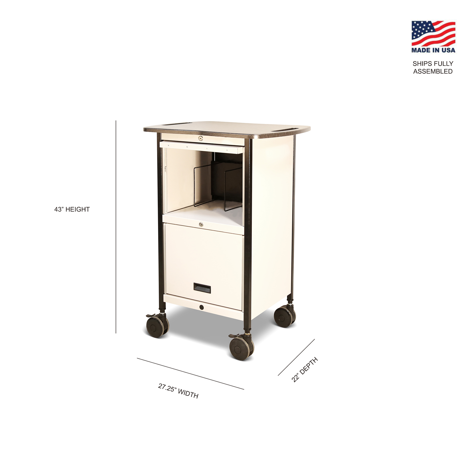 Mov-it Elite Chart Rack: Series III  Small Linen