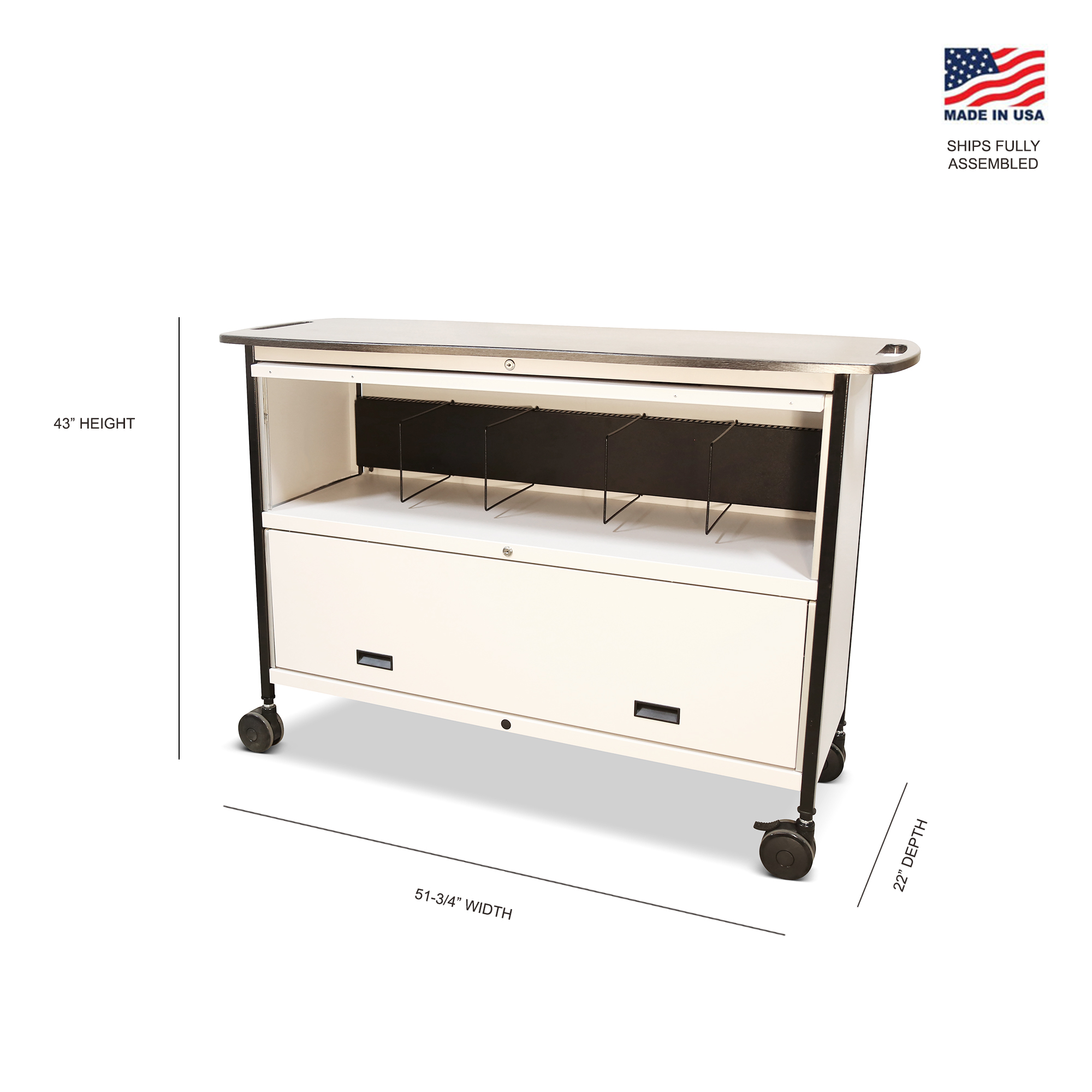 Mov-it Elite Chart Rack: Series III  Large Linen