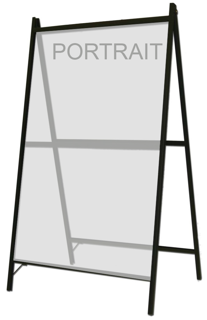 S203  A-Frame for 1 or 2 signs (Signs not included)