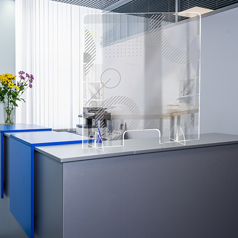 PSG3236-8 Standing Counter Sneeze Guard Partition Design #8