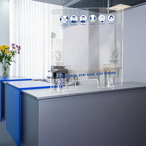 PSG3236-9 Standing Counter Sneeze Guard Partition Design #9