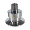 1.5 Tri-Clamp Adapters with MNPT - Various Sizes - 1/4,3/8, 1/2,3/4, 1