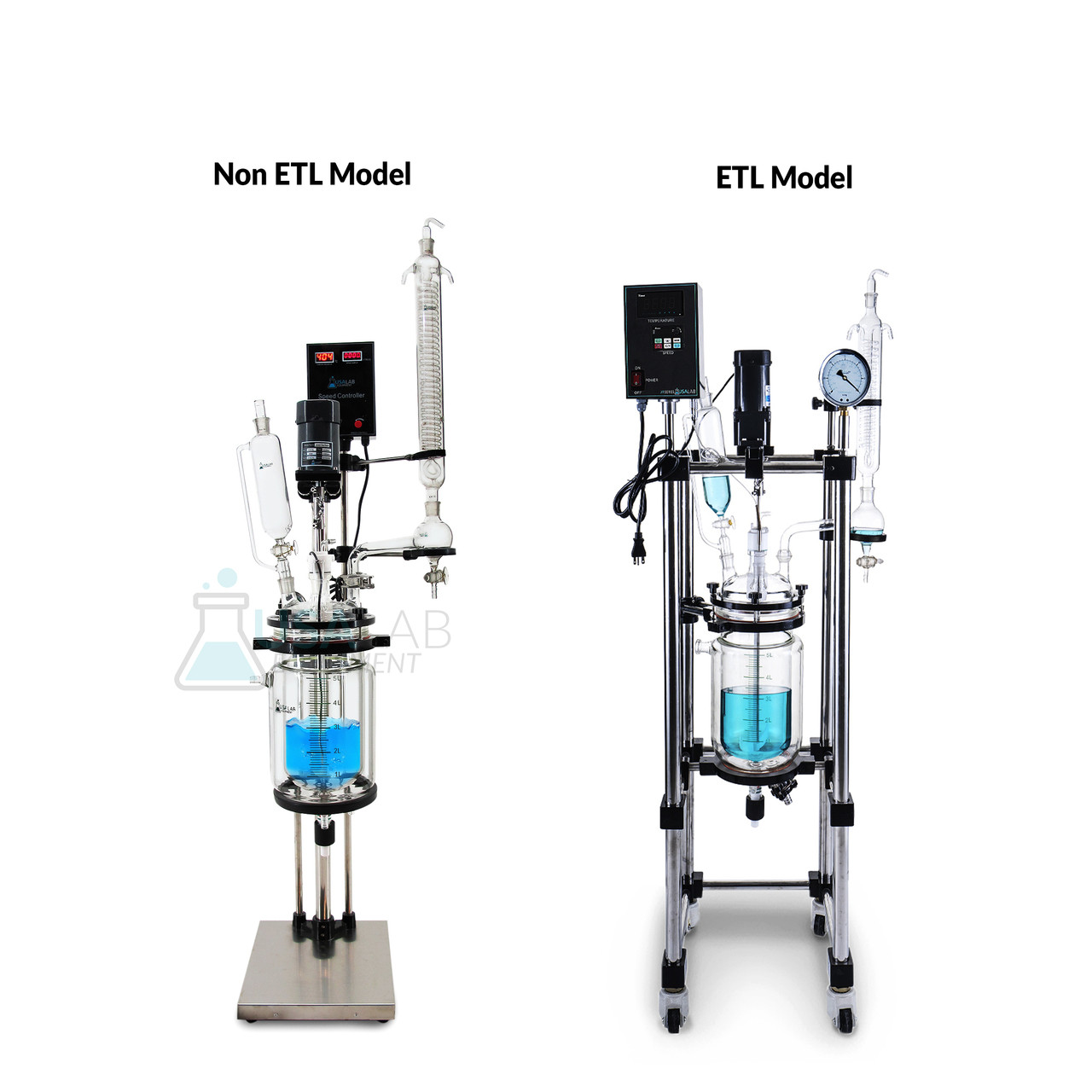 USA Lab 20L Single Jacketed Glass Reactor Optional ETL Certification to UL  and CSA Standards