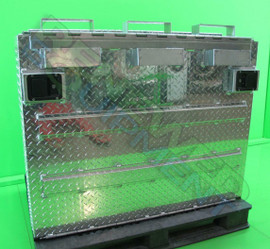 Custom Diamond Plate Secure 50L Drum Transfer Storage Container #1