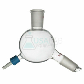 USA Lab 24/40 250mL Short Path Distillation Single Cow Receiver Adapter - 120°