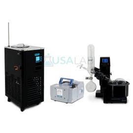 USA Lab 2L Rotary Evaporator Turnkey Rotovap RE-200A w/ Vacuubrand MZ 2C NT