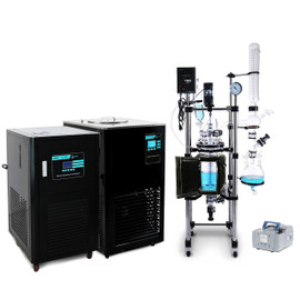 USA Lab 10L Single Jacketed Glass Reactor Turnkey System (Optional ETL Certification to UL and CSA Standards for Reactor)