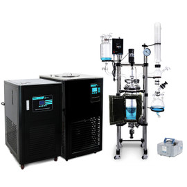 USA Lab 20L Single Jacketed Glass Reactor Turnkey System (Optional ETL Certification to UL and CSA Standards for Reactor)
