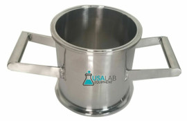 "STAINLESS STEEL 6"" X 6"" TRI CLAMP SANITARY SPOOL WITH HANDLES"