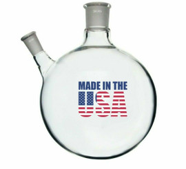 MADE in USA 5L Round Bottom Receiving Flask - 2 neck 24/40 and 34/45 Center