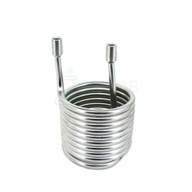 "Stainless Steel 304 Condensing Coil - 6"" x 6"" x 10"" - 1/4"" FNPT"