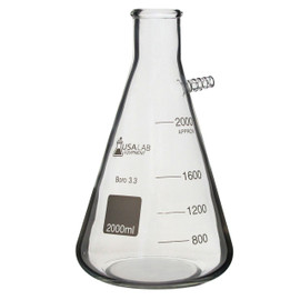 """USA Lab 1L, 2L, 5L Boro 3.3 Heavy Wall Filter Flask 1/2"""" Barb"""