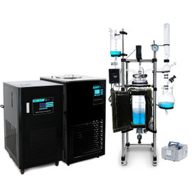 USA Lab 50L Single Jacketed Glass Reactor Turnkey System (Optional ETL Certification to UL and CSA Standards for Reactor)