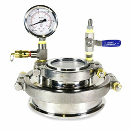"""Diamond Miner 6"""" Stainless Steel 3"""" Tri-Clamp Sight Glass"""