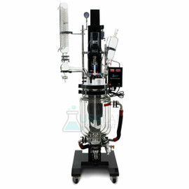 USA Lab 10L Electric Lift Double Jacketed Glass Reactor