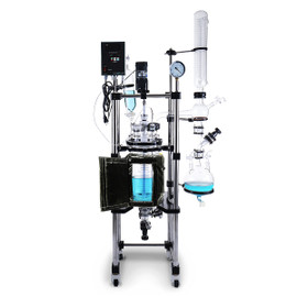 USA Lab 10L Single Jacketed Glass Reactor (Optional ETL Certification to UL and CSA Standards)