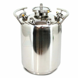 USA Lab 50lb Stainless Steel Solvent Tank - SS304 50LB Water (24LB Butane)
