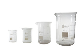 USA Lab Low Form Beaker Borosilicate 3.3  25ML , 50ML, 100ML, 250ML, 500ML, 1L, 2L, 5L, 10L
